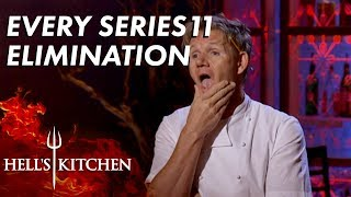 Every Series 11 Elimination On Hell's Kitchen