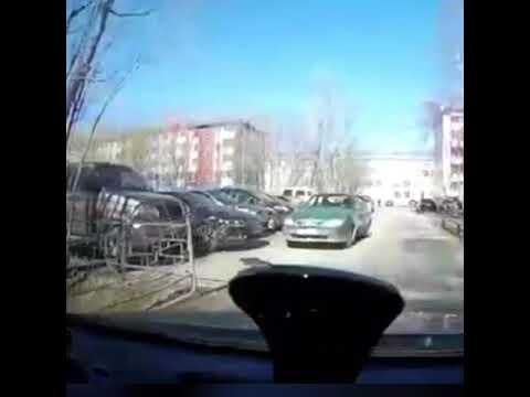 ДТП в Нефтеюганске. Запись с видеорегистратора.