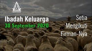 Ibadah Keluarga 30 September 2020 - GKJW Jemaat Kraksaan