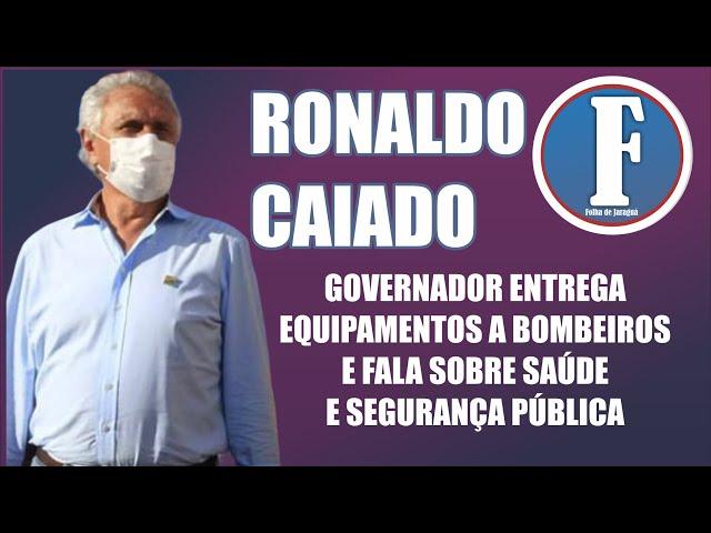 Governador entrega benefícios de quase 700 mil aos bombeiros de Jaraguá