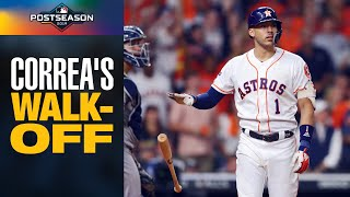 Carlos Correa's INSANE WALK-OFF to win game for Astros in ALCS Game 2 | MLB Highlights
