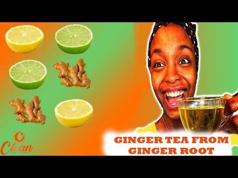 How To Make Fresh Homemade Ginger Tea From Ginger Root