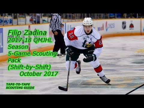 Filip Zadina: 2017-18 Five-Game Shift-By-Shift Scouting Pack [QMJHL, Halifax Mooseheads]