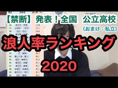 【禁断】公立高校「浪人率ランキング」初公開wwwwwwwwww(おまけ:私立も)