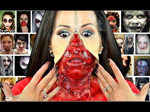 Halloween Zipper Make Up - Scary makeup costume Ideas zip face paint painting it