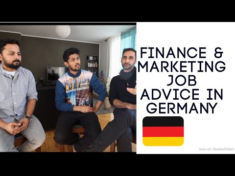 JOB ADVICE FOR FINANCE AND MARKETING IN GERMANY #LETSTALKTODAY