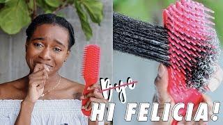 BEST DETANGLING BRUSH I've Used On My 4B/4C Hair! | Felicia Leatherwood Detangling Brush