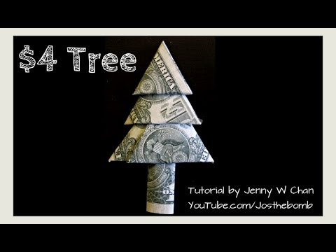 Christmas Crafts - DIY How to Fold Money Christmas Tree ... - photo#19