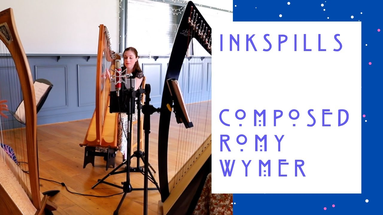 INKSPILLS by ROMY WYMER. HARP TRIO. THE WILLOW TRIO. LIVE PERFORMANCE.