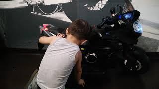 Детский электромотоцикл River Toys Е222КХ, обзор.