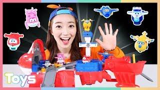 초대형 슈퍼윙스 호기의 열리는 변신공항세트 장난감 비행기 놀이 l 캐리와장난감친구들