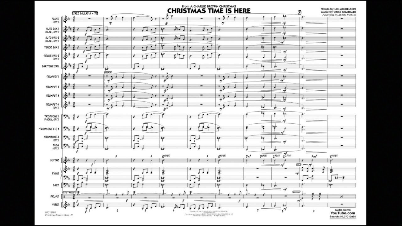 Christmas Time Is Here arranged by Mark Taylor - YouTube