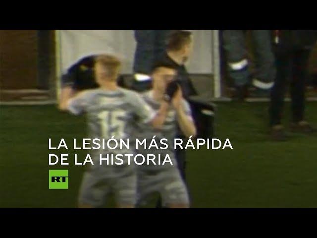 VIRAL: Futbolista entra de la banca y se lesiona en un segundo