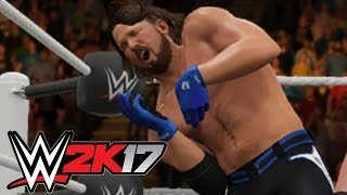 WWE 2K17 - What Happened to AJ Styles? [4-Way Extreme Rules] - Playstation 4