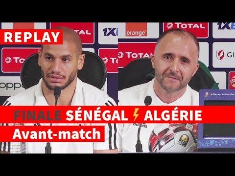 REPLAY - FINALE CAN-2019 | Avant-match Sénégal-Algérie: conf de presse de Belmadi et Guedioura