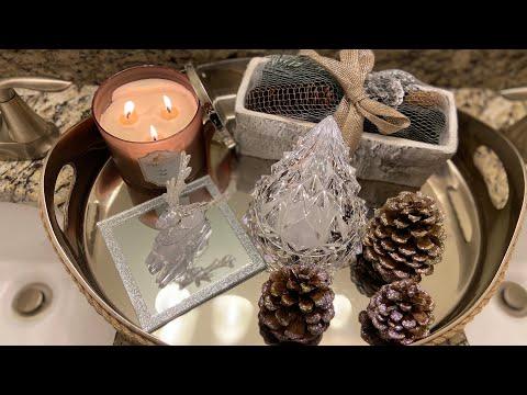 Winter Bathroom Vignette Challenge 2019; Rustic Glam Decor #winterbathroomvignettechallenge2019