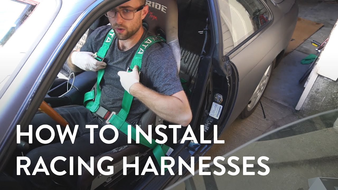Install Takata Drift Racing Harness - YouTube