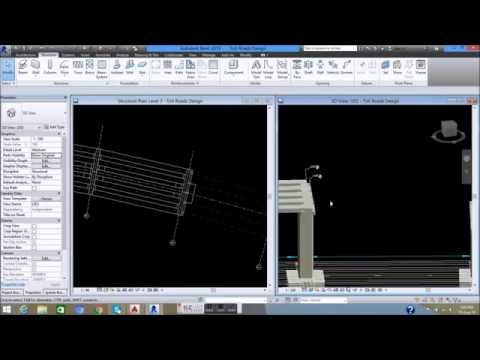 05B  Design and Setting T Beam    Design of Toll Road by Revit