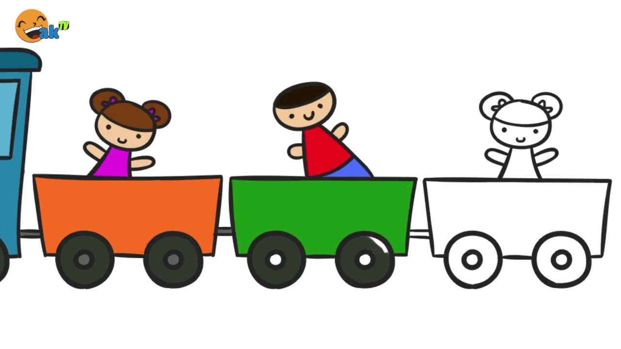 Toy Train Coloring Page - How To Draw Toy Train Coloring Pages ...