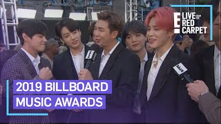BTS Flaunts Friendship Bracelets From Halsey at BBMAs 2019 | E! Red Carpet & Award Shows Video
