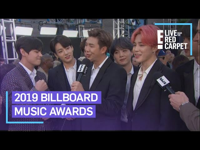 BTS Flaunts Friendship Bracelets From Halsey at BBMAs 2019 | E! Red Carpet & Award Shows