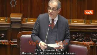 """Def, Tria  al PD:""""Mi hanno ricordato costo debito pubblico, stare all'opposizione risveglia"""""""