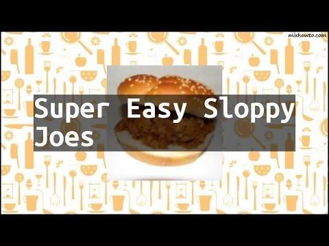 Recipe Super Easy Sloppy Joes