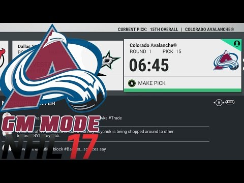 SOLID DRAFT - NHL 17 - GM Mode Commentary - Colorado ep. 12