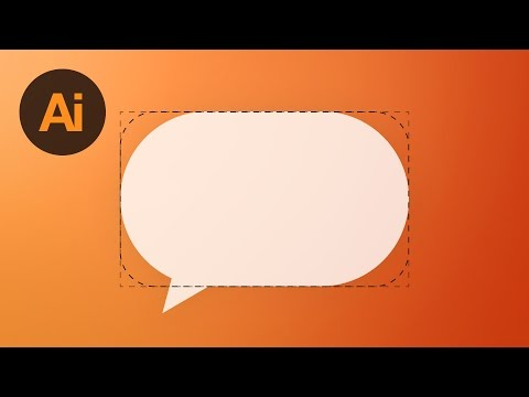 Learn How To Draw An Adjustable Speech Bubble In Adobe Illustrator | Dansky