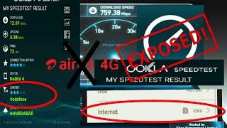 Ookla speed test expose | airtel fastest network claim expose | Ookla fake reading | bug in Ookla🤔