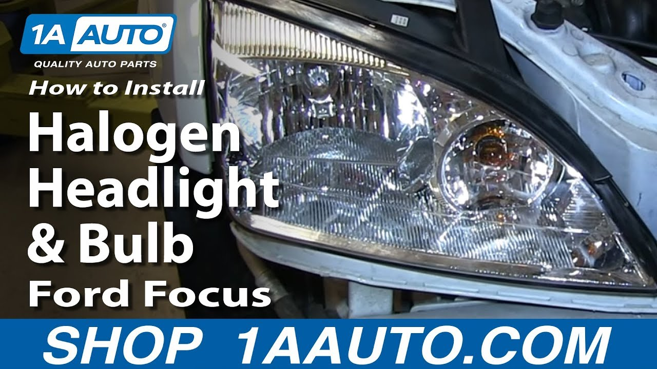 How To Install Replace Change Halogen Headlight And Bulb 2005 07 Incandescent Light Diagram Shows 11 Parts Ford Focus Youtube