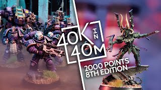 Warhammer 40k, Adeptus Astartes vs Aeldari 2000 Point Battle, S02E04 - Our send off to 8th edition