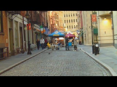 Stone Street Historical District In Lower Manhattan