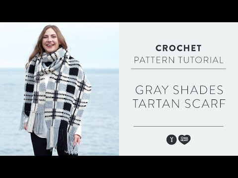 How To Crochet An Intarsia Tartan Scarf | Seed Stitch Technique