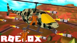 *NEW* ARMY HELICOPTER MISSILES!! | Roblox Jailbreak