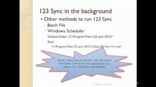 123 Sync as a shortcut, batch or Windows Task Scheduler Process