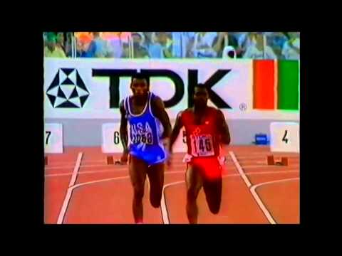 Rome 1987 World Championships Athletics Men's 100 metres Final Ben Johnson 9.83 WR