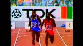 Rome 1987 World Championships Athletics Men's 100 metres Final Ben Johnson 9.83 WR