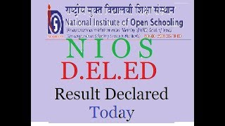 NIOD D.El.Ed Result PAPER 501.502, 503-2018 Declared Today..............by- Dipesh Kr.