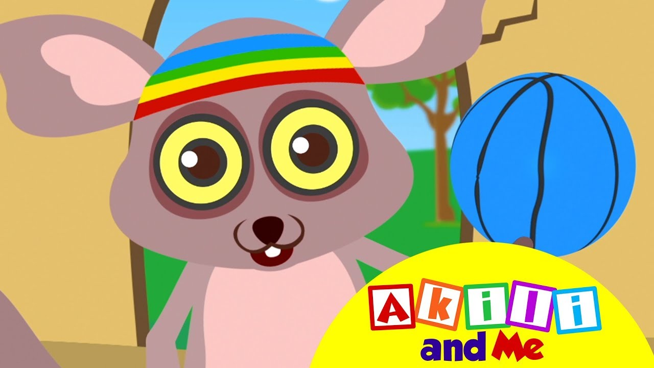 Draw a Ball with Bush Baby | Akili and Me | Cartoons for Preschoolers