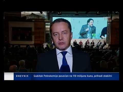 Guverner Hrvatske Narodne Banke Boris Vujčić U Dnevniku 1 Hrvatske Radiotelevizije
