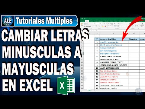 Mayúsculas y Minúsculas en Excel | Excel Aprende from YouTube · Duration:  3 minutes 30 seconds