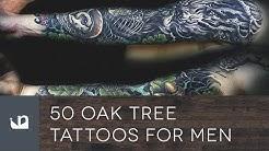 50 Oak Tree Tattoos For Men