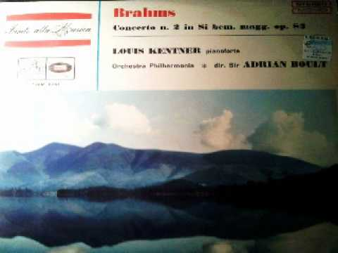 Louis Kentner plays Brahms, Piano Concerto n. 2, sir Adrian Boult, Philarmonia Orch, Vinyl