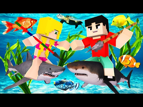 Minecraft RAFT - SHARK EATS ANOTHER SHARK?! (Raft Attack)