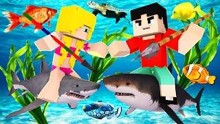 Minecraft RAFT - SHARK EATS ANOTHER SHARK?! (Raft Attack)