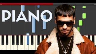 Anuel AA Hipócrita Ft Zion Piano Midi tutorial Sheet app Cover Karaoke
