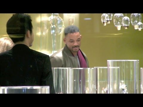 WILL SMITH luxury watch shopping in Paris