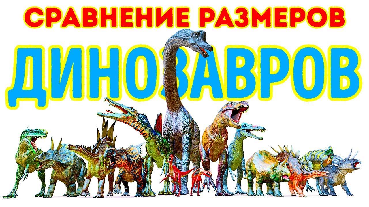 Сравнение размеров самых больших и самых маленьких динозавров