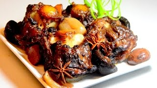 Braised  Oxtail ( Beef ) With Red Wine Sauce